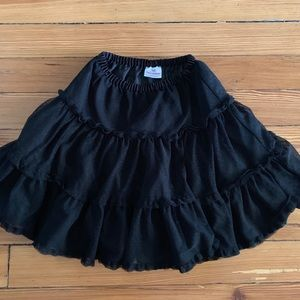 Hanna Andersson Black Tulle Skirt size 120 6/7 🖤